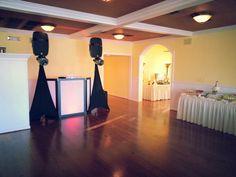 Dj Donny sound and lighting setup..