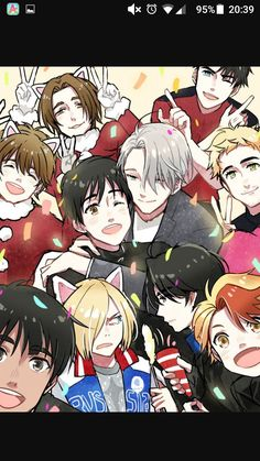 Victor and Yuri for the win! Katsuki Yuri, Yuuri Katsuki, Yuri On Ice, Yuri X Victor, Otaku, Ice Art, Animes On, ユーリ!!! On Ice, Yuri Plisetsky