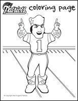Tom brady coloring page coloring pages pinterest tom for New england patriots football coloring pages