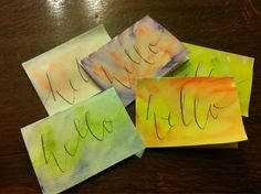 Watercolor greeting cards! Phoebe Thomas Calligraphy