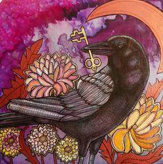 Crow and Key by Lynnette Shelley www.lynnetteshelley.com