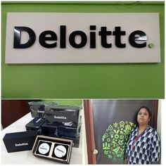 Here comes the refreshed logo of Deloitte at our Deloitte India Jamshedpur office.
