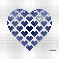 Heart in cross stitch - would make it so the hearts at the tops of the curves were complete(Top Crochet Simple) Cross Stitching, Cross Stitch Embroidery, Embroidery Patterns, Hand Embroidery, Cross Stitch Designs, Cross Stitch Patterns, Heart Patterns, Graph Paper Art, Cross Stitch Heart