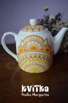 Teapot Gift for mom Gift for her Gift for women Yellow teapot Ceramic teapot…