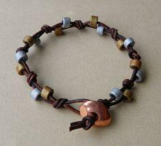 Beaded Leather Bracelet by Erin Siegel Jewelry, via Flickr