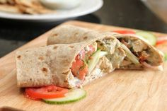 Greek Chicken Pitas with Tzatziki Sauce Recipe