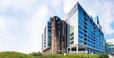 Abandoned grain elevator in Baltimore transformed into a bustling urban landmark