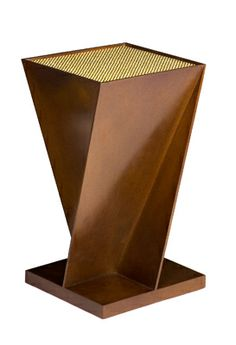 gary hutton grand facet - Solid bronze plate with Swarovski crystal inset top.