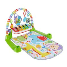 Fisher-Price Deluxe Kick 'n Play Piano Gym, Green, Gender Neutral (Frustration Free Packaging) - Frilly Baby Best Baby Play Mat, Baby Piano, Newborn Toys, Newborn Babies, Newborns, Activity Mat, Baby Kicking, Fisher Price Toys, Play Gym