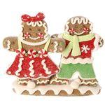 RAZ Boy and Girl Claydough Gingerbread Christmas Decoration