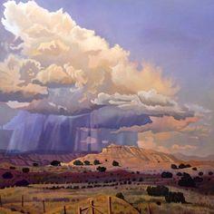 Purple Rain Print By Art James West