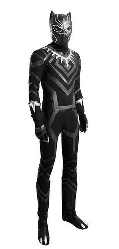 Black Panther Adult Cosplay Jumpsuit Costumes Sets Outfit Super Hero  Coverall  BlackPantherCostume  HalloweenCostumesIdeas  AdultCostume   HalloweenCostume ... 29c2e72017c8