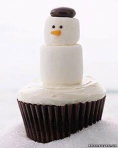 Snowman Cupcakes - Martha Stewart Cupcakes