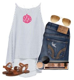 by preppy-southern-girl88 ❤ liked on Polyvore featuring Zara, Hollister Co., Steve Madden, Ray-Ban, Initial Reaction, Bobbi Brown Cosmetics and Marc Jacobs