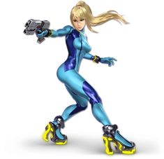 View an image titled 'Zero Suit Samus Art' in our Super Smash Bros. Ultimate art gallery featuring official character designs, concept art, and promo pictures. Super Smash Bros Characters, Nintendo Characters, Video Game Characters, Flash Characters, Super Smash Bros Brawl, Samus Zero, Samus Aran Zero Suit, Zero Suit Samus Cosplay, Nintendo Switch System