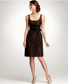 Ann Taylor: Silk Taffeta Scoop Neck Bridesmaid Dress