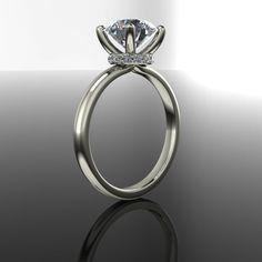 Forever Brilliant Moissanite and Diamond Engagement Ring 2.18 CTW
