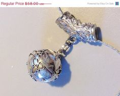 Pregnancy Necklace - Mexican Bola - Harmony Ball - Angel Caller - STERLING SILVER chime necklace. $52.20, via Etsy.