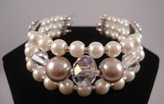 Carolyn Schulz Creative Jewellery: Thursday's Workshp - Memory Wire Pearl Cuff