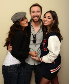 Emmanuelle Chriqui, Sam Huntington, and Meaghan Rath pose for a portrait during the 2014 Slamdance Film Festival at the Getty Images Portrait Studio at the Village At The Lift on January 19, 2014 in Park City, Utah.