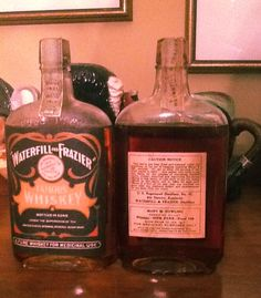 Waterfill & Frazier Prohibition Bourbon pints.  Couple Finally Cleans Out House, Finds Whiskey From Prohibition | VinePair