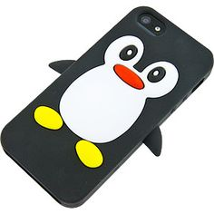 Penguin Cover Case for Apple iPhone 5, Black