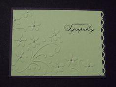 Handmade Greeting CardEmbossed Sympathy Card by DawnsGreetingCards, $3.00