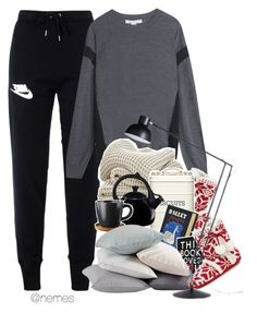"""It finally fell in the snow! And school tomorrow, again. I'm tired."" by nemes-margareta-anna ❤ liked on Polyvore featuring NIKE, Alexander Wang, Olympia Le-Tan, Coyuchi and Anglepoise"
