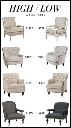 High/Low: Armchairs
