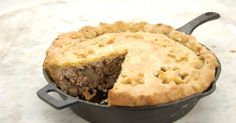 A traditional French-Canadian meat pie, accented with sweet spices and served on Christmas Eve.
