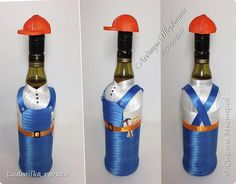 Вот такая прикалюшка получилась в подарок на день строителя ))) фото 2 Water Bottle, Drinks, Decorated Bottles, Dad Birthday, Presents, Drinking, Beverages, Water Flask, Water Bottles