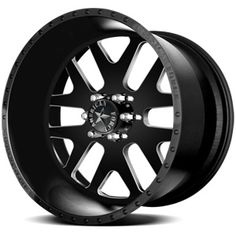 American Force Baus SS6 Flat Black Machined Windows Custom Truck Wheels & Rims