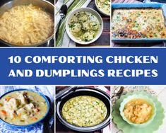 Crockpot Recipes, Chicken Recipes, Delicious Recipes, Vegetarian Recipes, Homemade Chicken And Dumplings, Pinch Recipe, Recipe Box, Dumpling Recipe, Baked Chicken