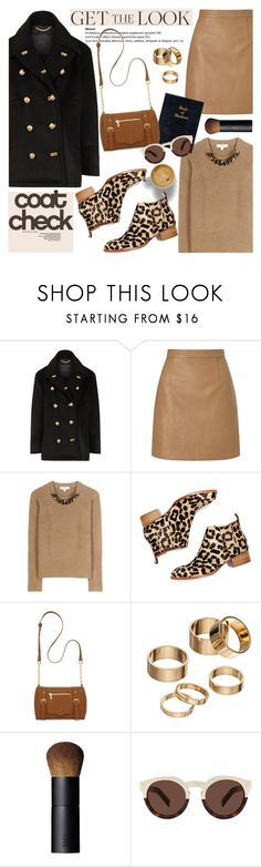 """""""Get the Look: Cool Coats"""" by helenevlacho ❤ liked on Polyvore featuring Burberry, Lipsy, Jeffrey Campbell, New Directions, Apt. 9, NARS Cosmetics, Illesteva, GetTheLook, contestentry and coolcoat"""