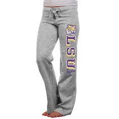 LSU Tigers Ladies Frosh Fleece Sweatpants - Ash