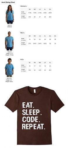 Men's Eat Sleep Code Repeat - Coding Coder Programmer Developer Large Brown