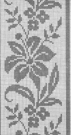 Photo from album Crochet Bedspread Pattern, Crochet Curtains, Crochet Stitches Patterns, Crochet Doilies, Embroidery Stitches, Knitting Patterns, Crochet Edgings, Filet Crochet Charts, Crochet Diagram