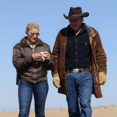 Katee Sackhoff and Robert Taylor in Longmire, season 2 premiere review....