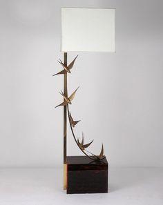 Jacques Duval-Brasseur floor lamp, 1970s Interior Lighting, Lighting Design, Chandelier Lighting, Chandeliers, Blinded By The Light, Vintage Lighting, Low Lights, Ikebana, Light Table