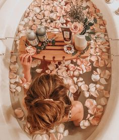 flower bath tub, perfect for self-care sunday