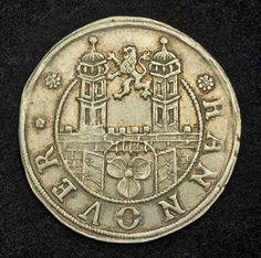 German Coins 12 Mariengroschen Silver Coin of 1669, German States, Hannover City