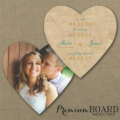 With the Grain Save the Date Card