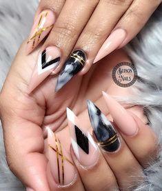 Stiletto nails. #stilettonails
