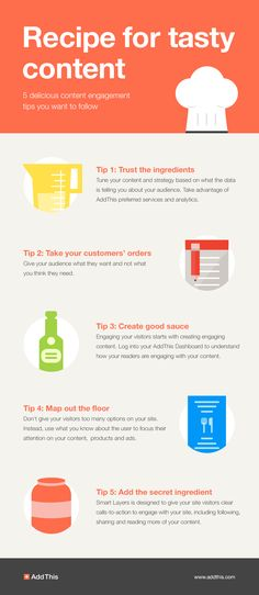 Recipe for Tasty Content: 5 Delicious Content Engagement Tips #infographic #ContentMarketing #Tips #Marketing