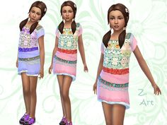 Isle Style dresses by Zuckerschnute20 at TSR via Sims 4 Updates