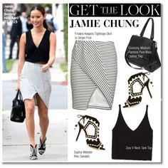 Get The Look-Jamie Chung by kusja on Polyvore featuring Zara, Givenchy, Finders Keepers, Sophia Webster, GetTheLook, celebstyle and jamiechung
