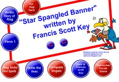 SMARTBoard Music Lesson: The Star Spangled Banner 2012. There are many options for your lessons and enough material to cover several class times/ levels.