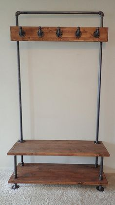 Vintage Industrial Furniture For Your Home - 12 Simple Industrial Diy Furniture Ideas …restoration process for a Do-It-Yourself (DIY) project. Industrial Interior Design, Vintage Industrial Furniture, Industrial House, Rustic Furniture, Modern Furniture, Antique Furniture, Outdoor Furniture, Industrial Coat Rack, Industrial Pipe Shelves