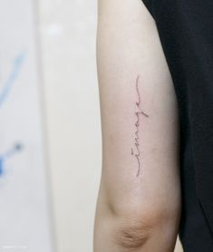 레터링 타투 by 타투이스트 리버 / Lettering Tattoo by Tattooist River / 분당 타투 / 성남 타투 / 영문 레터링 타투 / 얇은 레터링