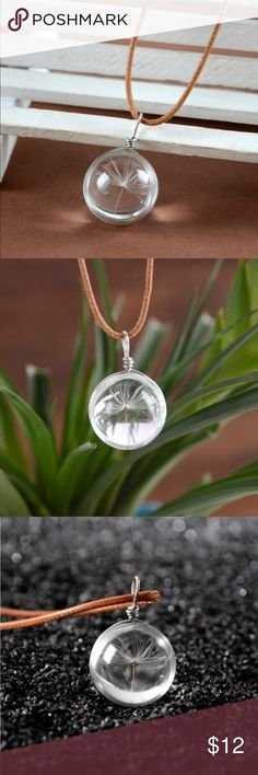 Spotted while shopping on Poshmark: ✨NEW✨Wish Dandelion Seed in Glass Pendant! #poshmark #fashion #shopping #style #Jewelry